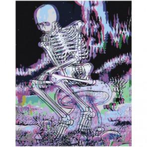 Череп 3D Раскраска картина по номерам на холсте