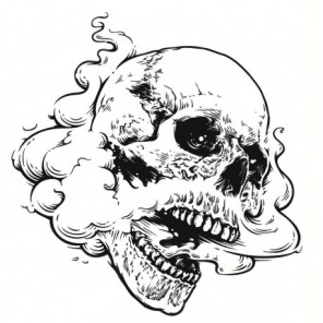 Череп в дыму Раскраска картина по номерам на холсте