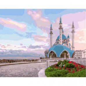 Мечеть в лучах рассвета Раскраска картина по номерам на холсте