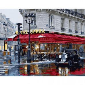Королевская опера дождливым вечером Раскраска картина по номерам на холсте