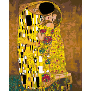 Количество цветов и сложность Золотой поцелуй Раскраска по номерам на холсте Живопись по номерам ARTH-Klimt