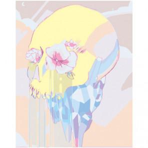 Череп в пастельных тонах Раскраска картина по номерам на холсте