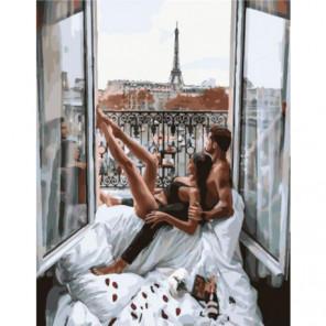 Утро с любимым Раскраска картина по номерам на холсте