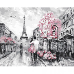 Весенний аромат Парижа Раскраска картина по номерам на холсте