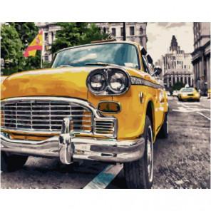 Ретро-такси Раскраска картина по номерам на холсте
