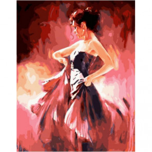 Страсть танцовщицы Раскраска картина по номерам на холсте