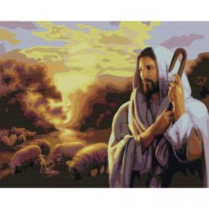 Иисус Раскраска картина по номерам на холсте