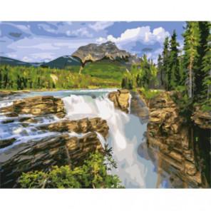 Водопад Санвапта, Канада Раскраска картина по номерам на холсте