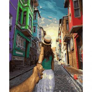 Следуй за мной. Стамбул Раскраска картина по номерам на холсте