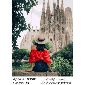 Сложность и количество цветов Прогулка по Испании Раскраска картина по номерам на холсте PK51011