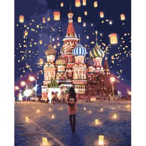 Воздушные фонарики у храма Раскраска картина по номерам на холсте PK51069