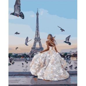 Парижская невеста Раскраска картина по номерам на холсте PK51044