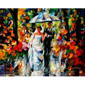 Свадьба под дождем Раскраска (картина) по номерам акриловыми красками на холсте Iteso
