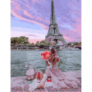 Приятный парижский пикник Раскраска картина по номерам на холсте