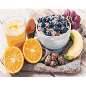 Разнообразный завтрак Раскраска картина по номерам на холсте