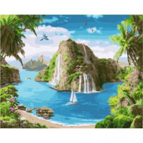 Райский уголок Раскраска картина по номерам на холсте