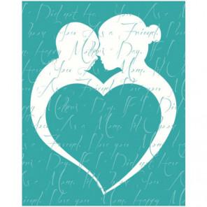 Силуэт с сердцем 80х100 Раскраска картина по номерам на холсте