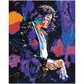 Michael Jackson Neon Раскраска картина по номерам на холсте