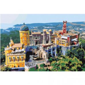 Дворец Пена Синтра в Португалии 100х150 Раскраска картина по номерам на холсте