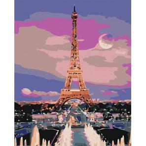 Лунная ночь в Париже Раскраска по номерам на холсте Живопись по номерам