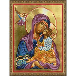 Икона. Богоматерь с младенцем Алмазная вышивка мозаика на подрамнике EQ10208