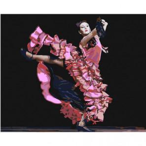 Фламенко Раскраска картина по номерам на холсте