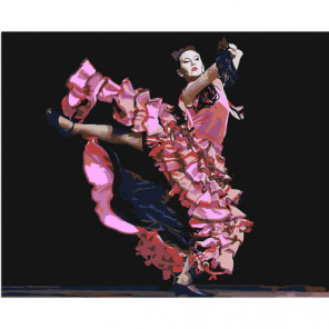 Фламенко 80х100 Раскраска картина по номерам на холсте