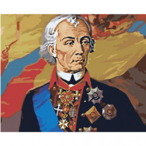 Александр Суворов Раскраска картина по номерам на холсте