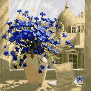 Вид из окна Раскраска картина по номерам на холсте KH0703