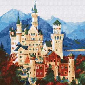Средневековый замок Раскраска картина по номерам на холсте KH0711