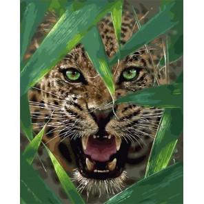 Оскал гепарда Раскраска картина по номерам на холсте МСА684