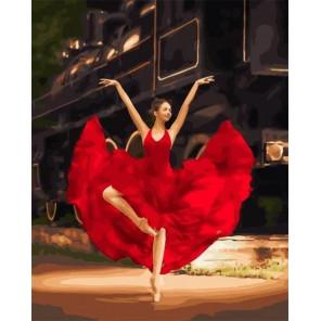 Танец в красном Раскраска картина по номерам на холсте МСА728