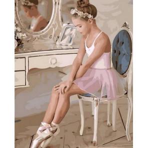 Юная балерина Раскраска картина по номерам на холсте MCA825