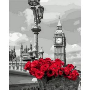 Корзина красных роз Раскраска картина по номерам на холсте MCA835