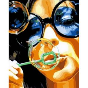 Мыльные пузыри Раскраска картина по номерам на холсте MCA882