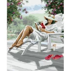 Отдых на террасе Раскраска картина по номерам на холсте МСА435