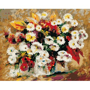 Астры Раскраска (картина) по номерам акриловыми красками на холсте Iteso