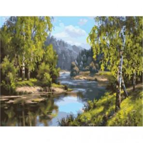 У реки Раскраска картина по номерам на холсте