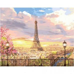 Прекрасное небо Парижа Раскраска картина по номерам на холсте