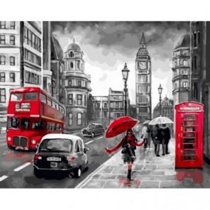 Ветреный Лондон Раскраска картина по номерам на холсте