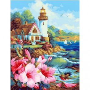 Весенний маяк Раскраска картина по номерам на холсте