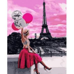Сложность и количество цветов Розовое небо Парижа Раскраска картина по номерам на холсте GX31803