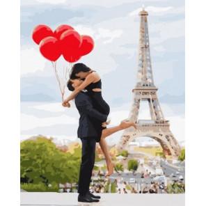 Сложность и количество цветов Париж - город для тех, кто влюблен… Раскраска картина по номерам на холсте GX34599