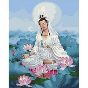 Сложность и количество цветов Богиня Гуань инь Раскраска картина по номерам на холсте GX35777
