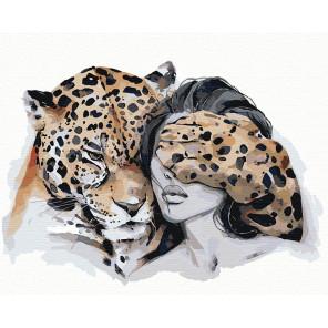 Оберег. Леопард Раскраска картина по номерам на холсте AIPA-NP1
