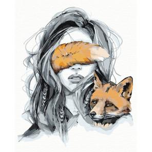 Оберег. Лисица Раскраска картина по номерам на холсте AAAA-NP2-100x125