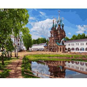 Весна в монастыре Раскраска картина по номерам на холсте ZX 23642