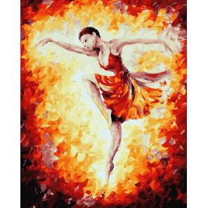 Огненные танцы Раскраска картина по номерам на холсте ZX 23963