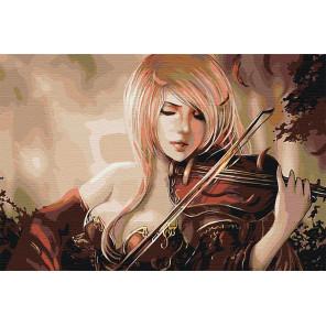 Игра на скрипке Раскраска картина по номерам на холсте AAAA-FIR116-80x120