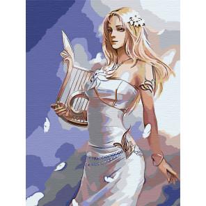 Девушка с арфой Раскраска картина по номерам на холсте AAAA-FIR117-60x80